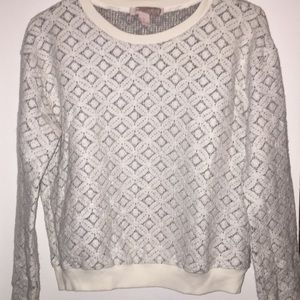 Forever 21 Lace Sweatshirt Top